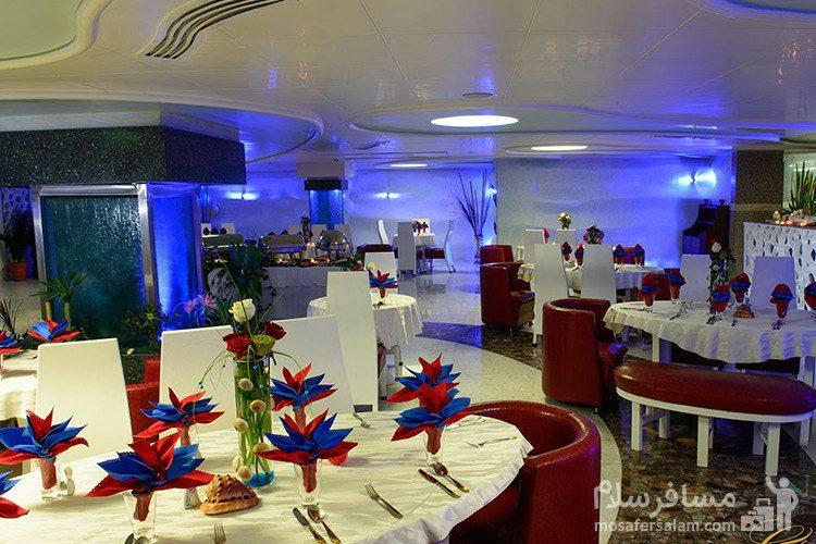رستوران پنج قاره هتل قصر طلایی مشهد