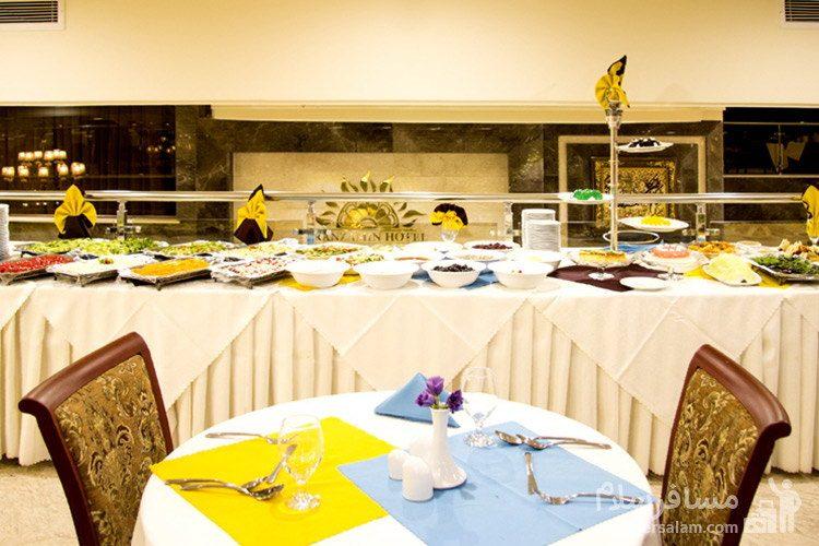 میز سواره هتل ایران زمین مشهد