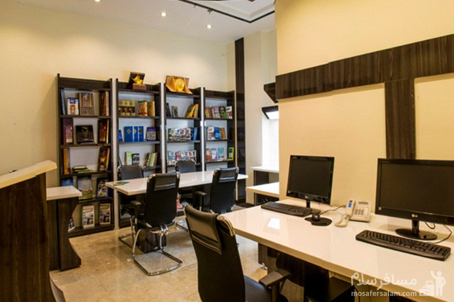 کتابخانه هتل مدینه الرضا مشهد