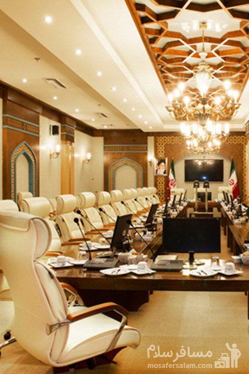 محل برگزاری جلسات اصلی هتل مدینه الرضا