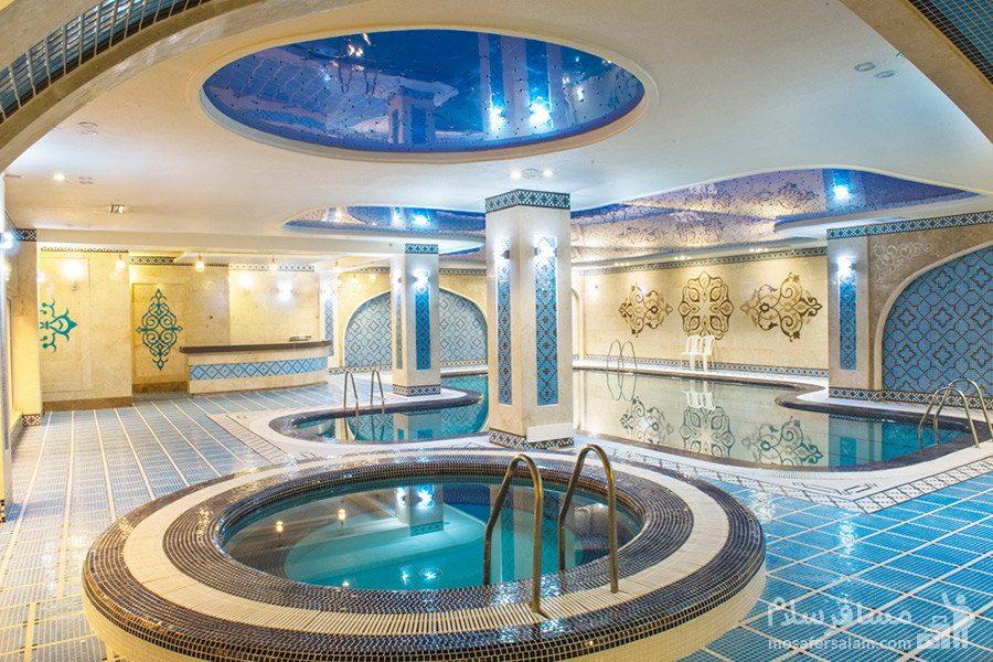حوضچه آب سرد هتل مدینه الرضا