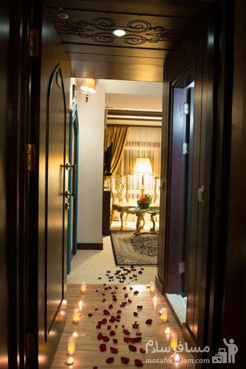 اتاق عروس هتل مدینه الرضا مشهد