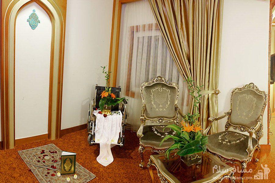 اتاق جانباز هتل مدینه الرضا مشهد