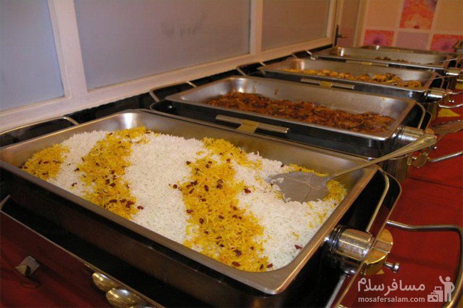 منو غذایی هتل نور مشهد