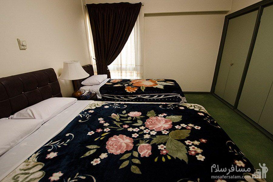 آپارتمان یک خوابه سه نفره هتل رضویه مشهد