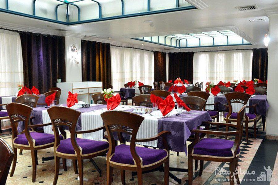 سالن غذاخوری هتل رضویه مشهد