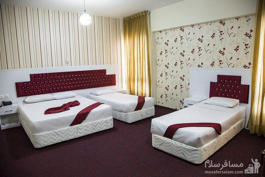 اتاق چهار نفره هتل رضویه مشهد