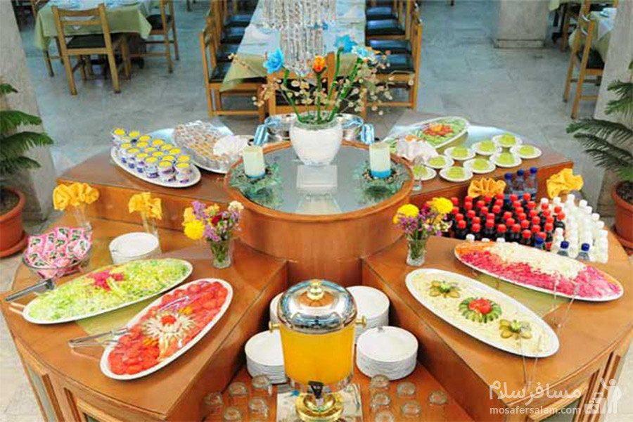 منو بوفه هتل تهران مشهد