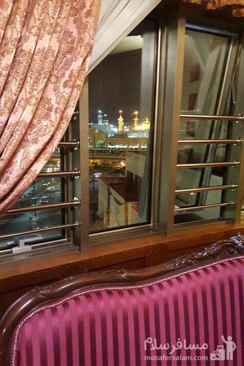 نمای حرم امام رضا (ع) از هتل توس مشهد
