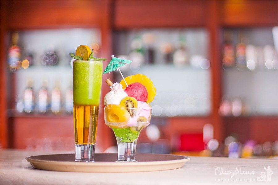 نوشیدنی سرد هتل توس مشهد