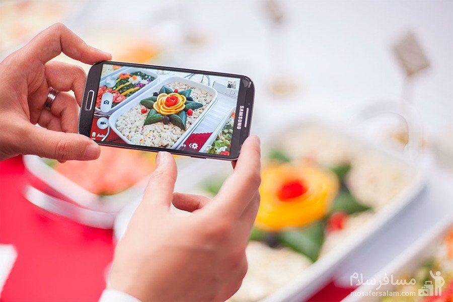 عکس سلفی از غذاهای هتل توس مشهد