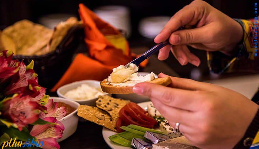 صبحانه هتل آسمان اصفهان
