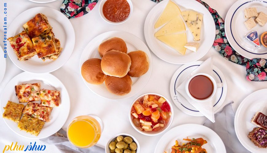صبحانه هتل بزرگ فردوسی تهران