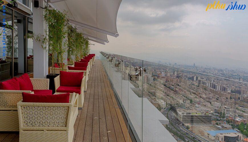تراس هتل اسپیناس پالاس تهران