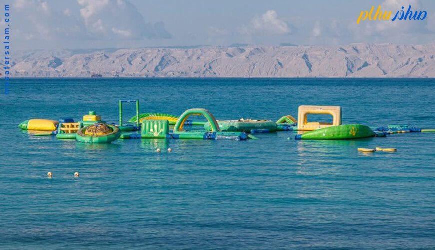 ساحل اختصاصی هتل مارینا پارک کیش