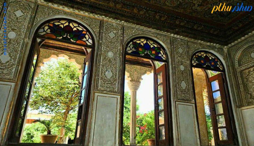 پنجره های خانه زینت الملک شیراز