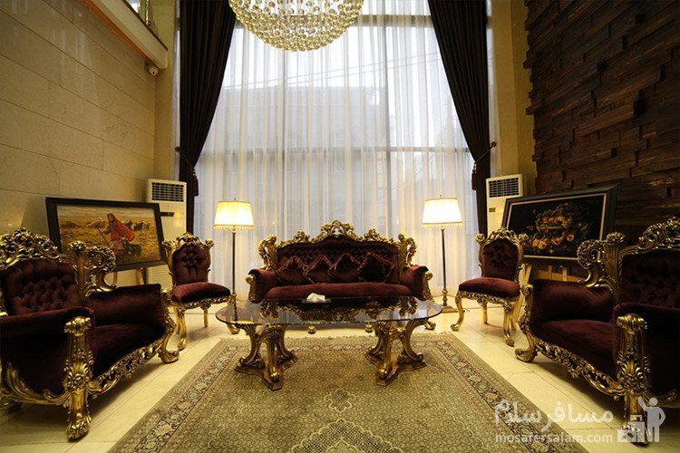 نشیمنگاه لابی هتل توحید نوین مشهد