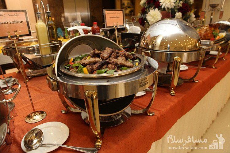 بوفه غذایی نهار هتل توحید نوین مشهد