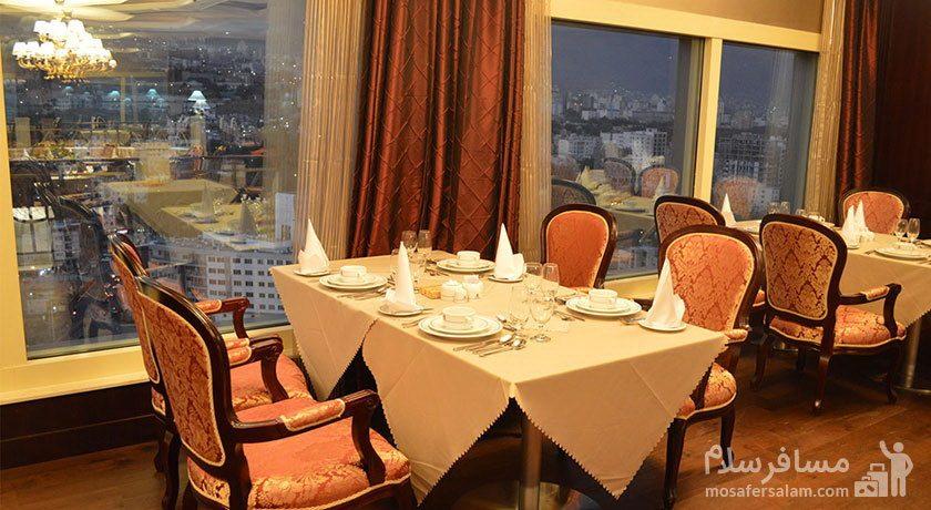 هتل پارسیان آزادی تهران سالن غذاخوری