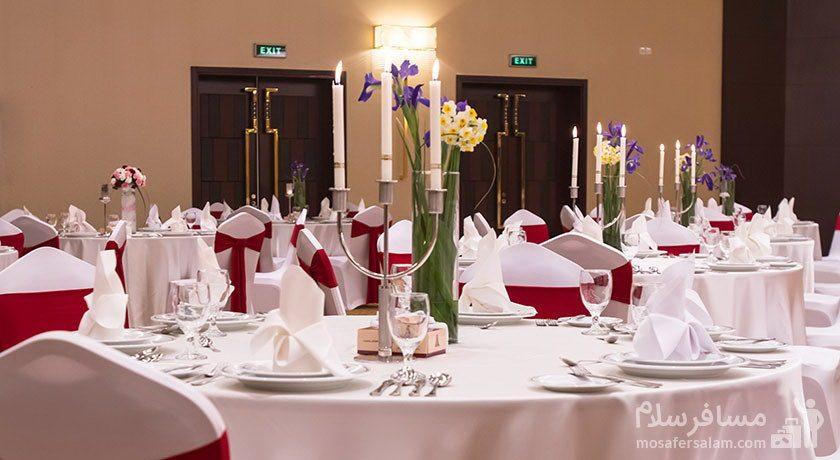 میز عروسی هتل آزادی تهران