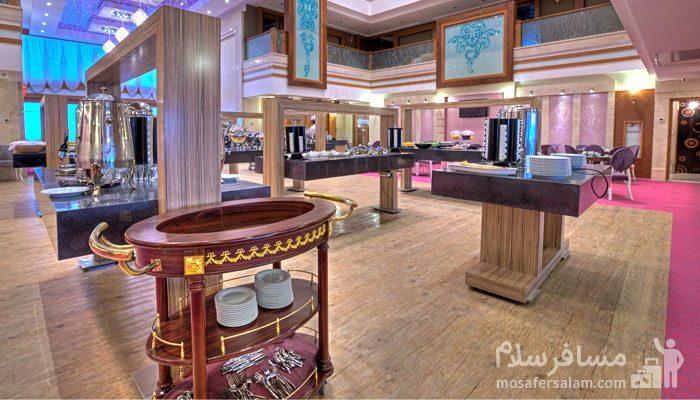 سالن پذیرایی صبحانه هتل درویشی مشهد