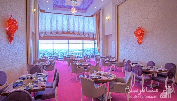 رستوران ارغوان هتل مجلل درویشی