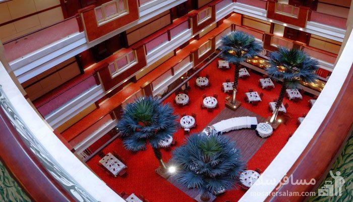 عکس هوایی رستوران آتریوم هتل مجلل درویشی