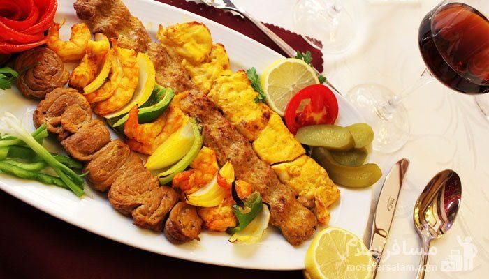 غذا های کبابی هتل درویشی
