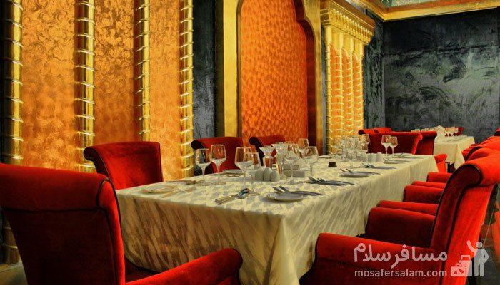 سالن فیروزه هتل مجلل درویشی