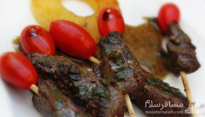 بادمجان کبابی هتل درویشی مشهد