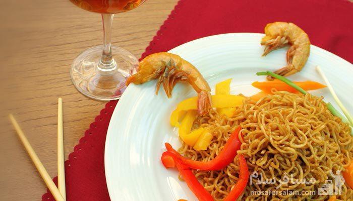 غذای دریایی هتل مجلل درویشی