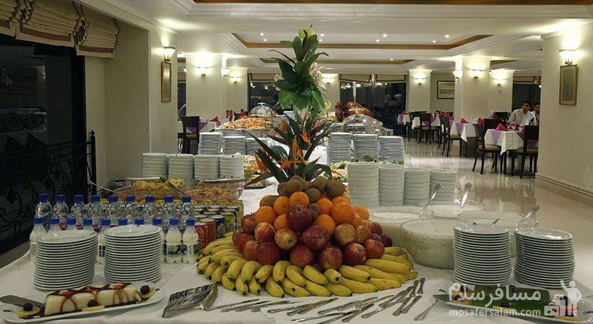 میز اردو هتل جواد مشهد