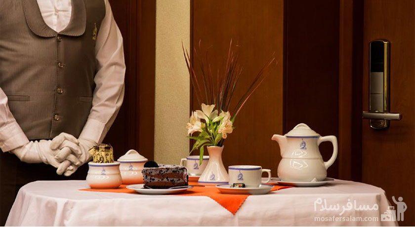 منو صبحانه هتل توس مشهد