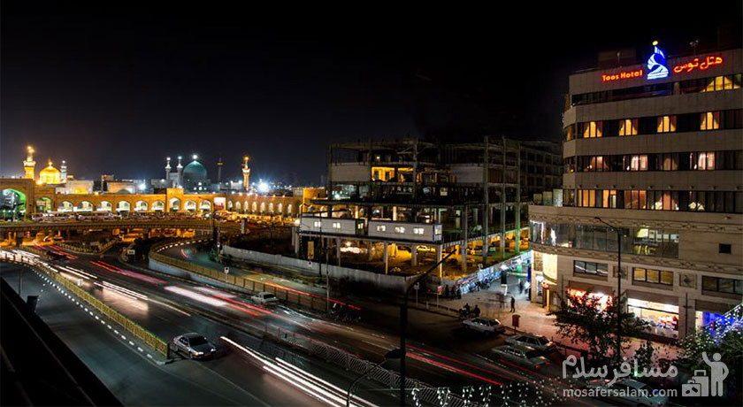 هتل توس مشهد خیابان شیرازی