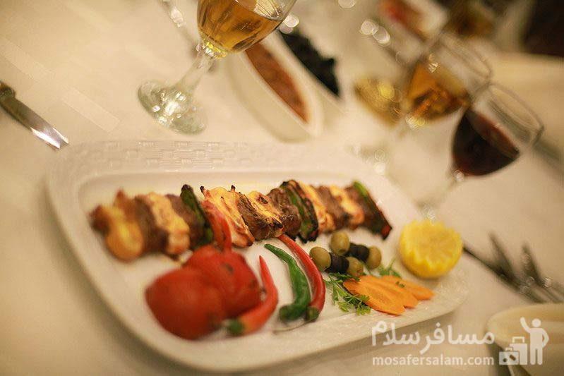 هتل ایران کیش منو ناهار