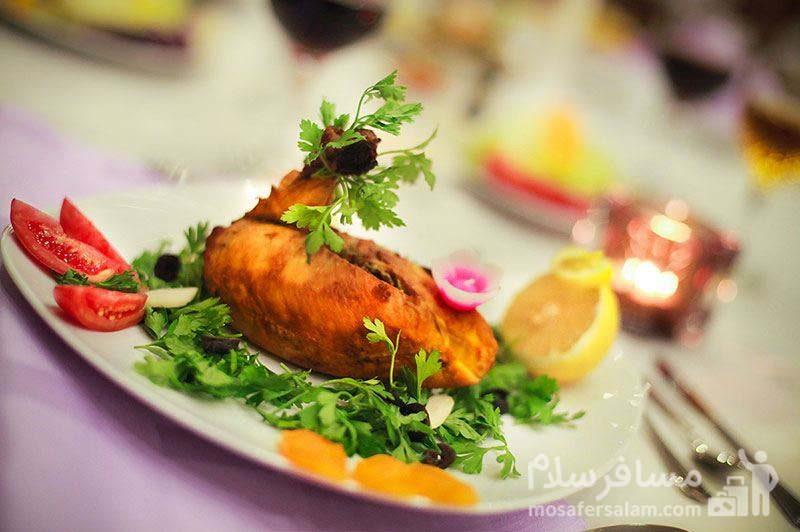 ماهی کبابی هتل ایران کیش