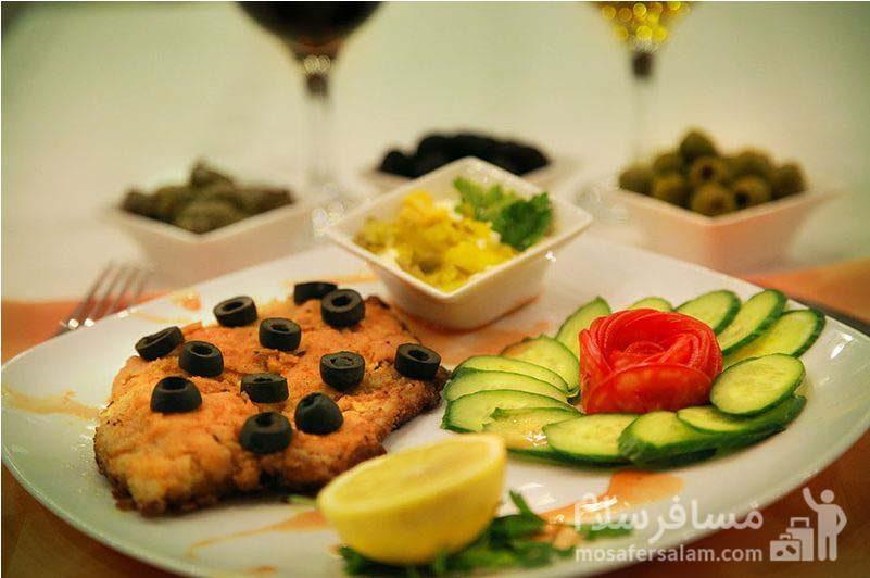 غذای دریایی هتل ایران کیش