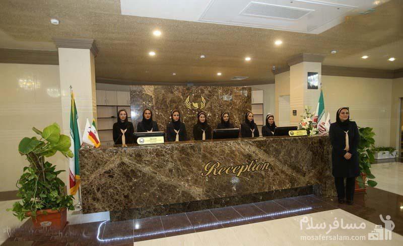 هتل ایران کیش کارکنان و پذیرش