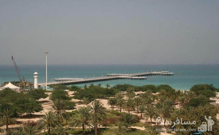 نما بزرگترین اسکله جزیره از هتل شایان کیش