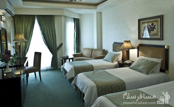 اتاق سهتخته هتل شایگان کیش