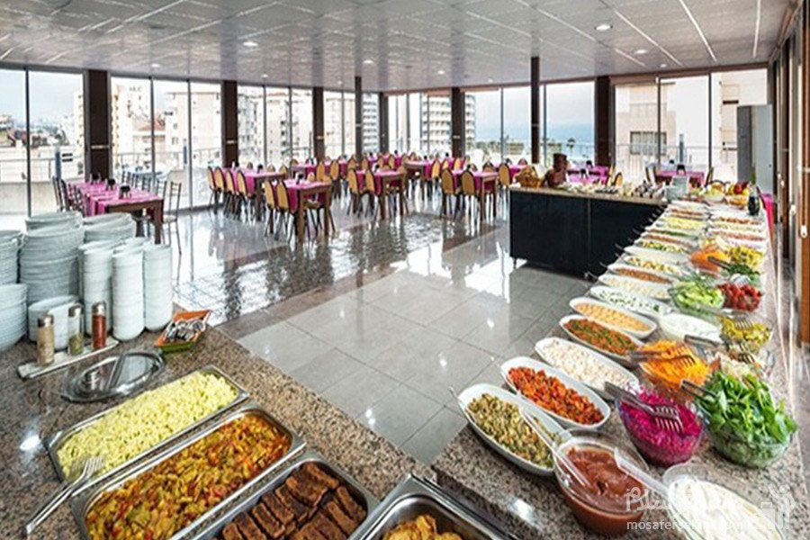 بوفه صبحانه هتل حیات شرق مشهد