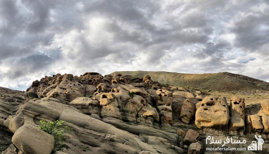 آشنایی با روستای وردیج ، معروف به روستای آدمهای سنگی