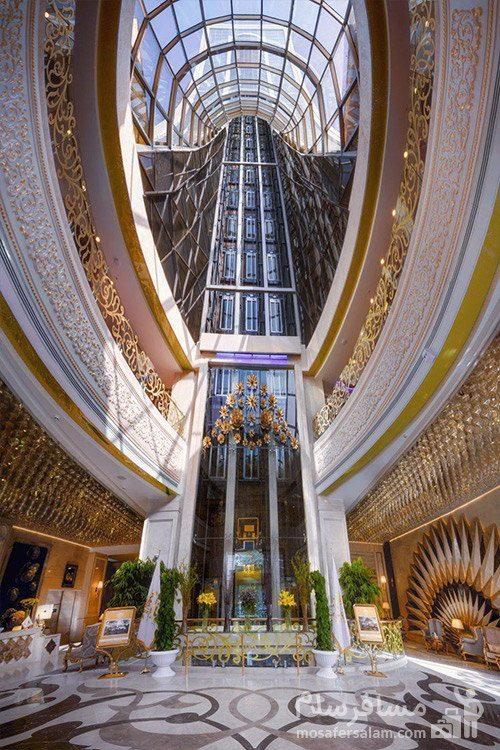 سقف شیشه ای هتل الماس 2 مشهد