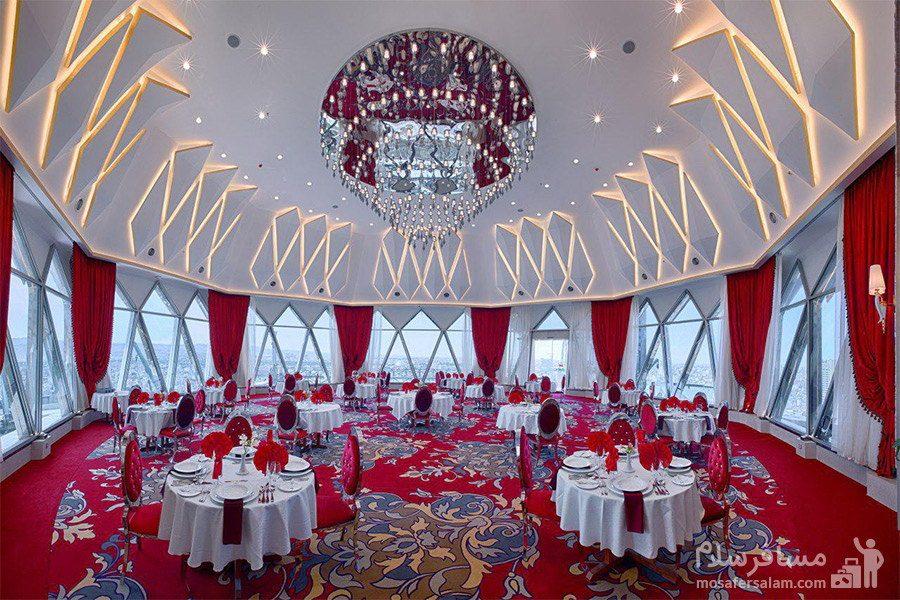 رستوران گردان پاناروما هتل الماس 2 مشهد