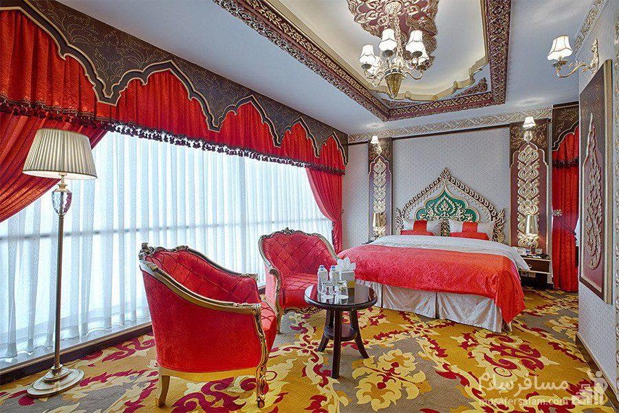 سوئیت پرزیدنت سبک صفویه هتل الماس 2 مشهد