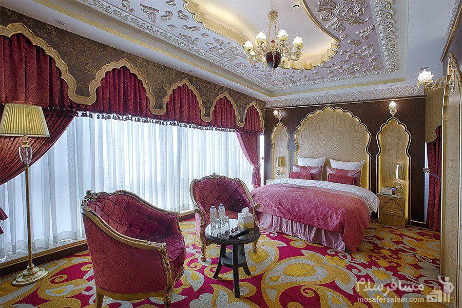اتاق امپریال سبک تایلند هتل الماس 2 مشهد