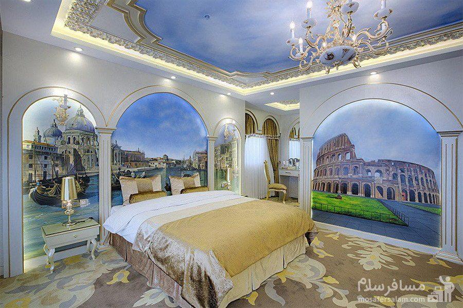 اتاق امپریال سبک ایتالیا هتل الماس 2 مشهد