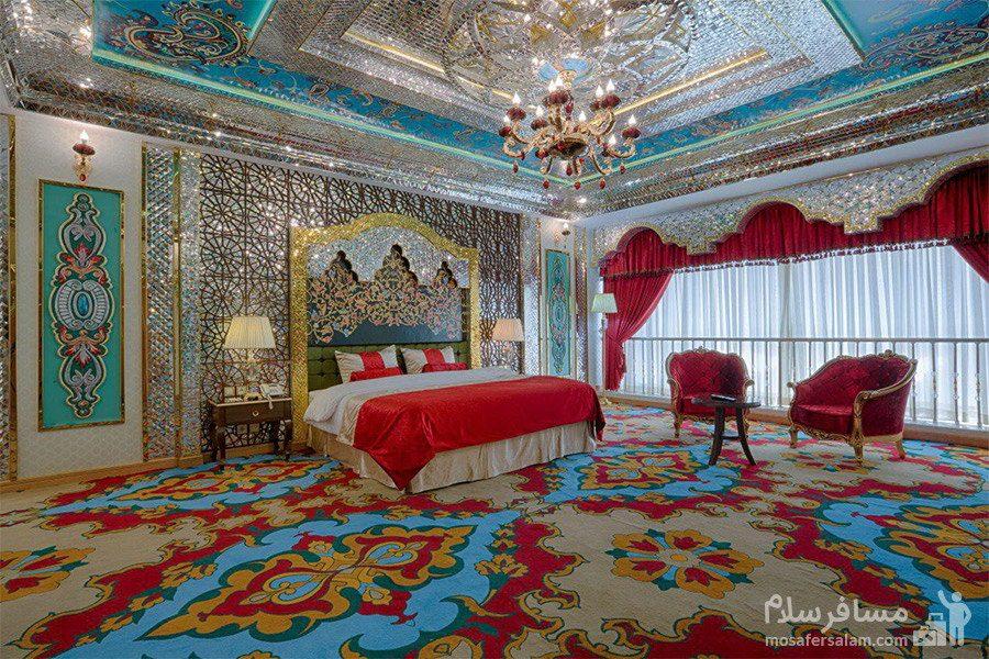 اتاق امپریال سبک هند هتل الماس 2 مشهد