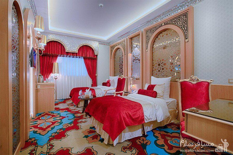 اتاق دو تخته سینگل هتل الماس 2 مشهد