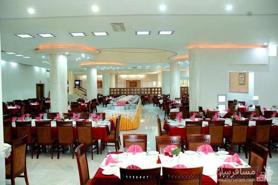 سالن غذاخوری مروارید هتل مینو مشهد